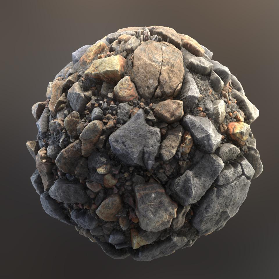 MountainRubble_Sphere